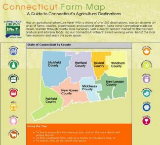 Link to the Connecticut Farm Map
