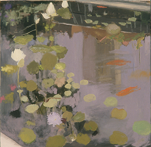 Suzanne Chamlin, Pool with Reflection and Fish